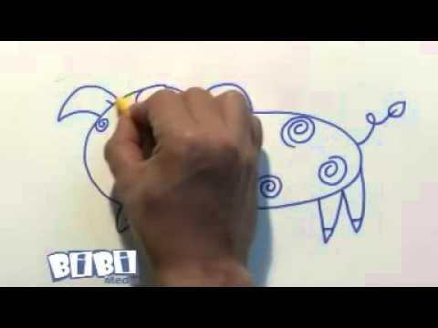 Họa sỹ tí hon  Vẽ chú lợn con - YouTube