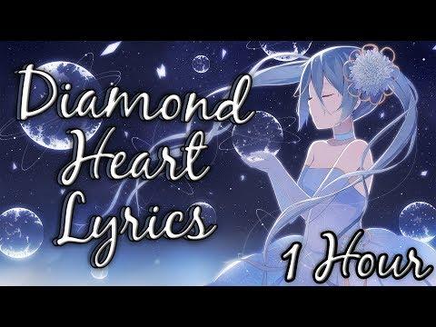 「Nightcore」Diamond Heart  - Alan Walker Feat. Sophia Somajo  【1 HOUR Loop】 ♪♪  (Lyrics)