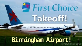 First Choice 767-324/ER G-OOBL Morning Takeoff at Birmingham Airport, BHX/EGBB | With ATC!