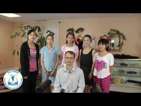 Victoria International Ballet Academy, teacher talks. Vaughan, Greater Toronto, Canada