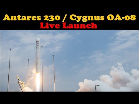 LIVE Launch of Orbital ATK's Antares rocket carrying the Cygnus OA-8 Cargo Craft to the ISS