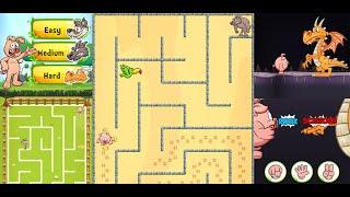 Piggy Maze Runner - Kİds educational puzzle