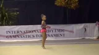 Пирлик Анита 8 лет булавы художественная гимнастика дети