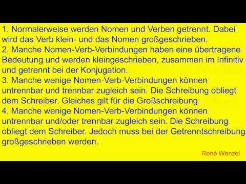 DfM 9.3 Deutsch/ Getrennt- und Zusammenschreibung/ Verb + Nomen