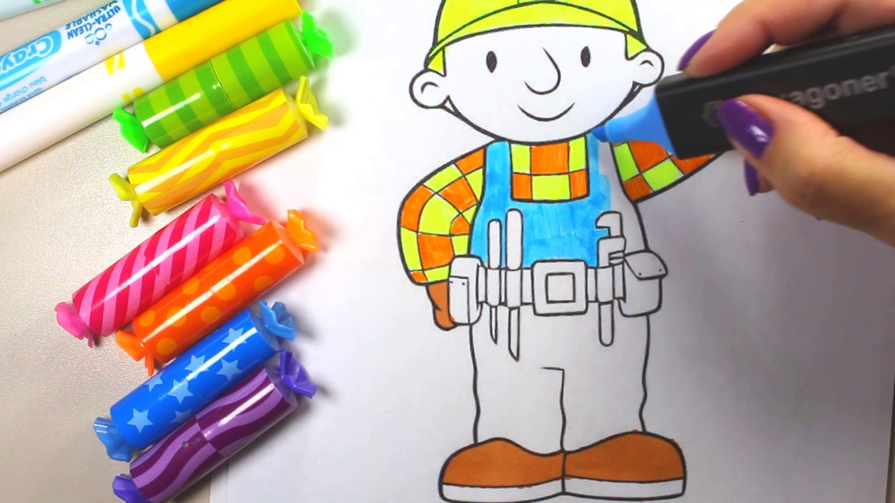 bob the builder images bob the builder coloring pages youtube