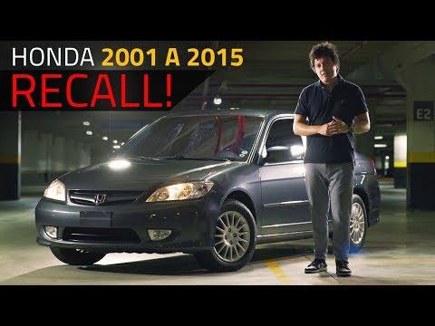 URGENTE: DONOS DE HONDA 2001 A 2015 - RECALL DOS AIR BAGS TAKATA