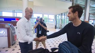 Sir Andy Murray has landed | Brisbane International  2018