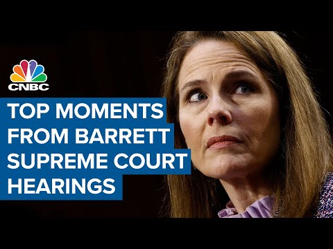 Watch the top moments from Amy Coney Barrett's Supreme Court confirmation hearings