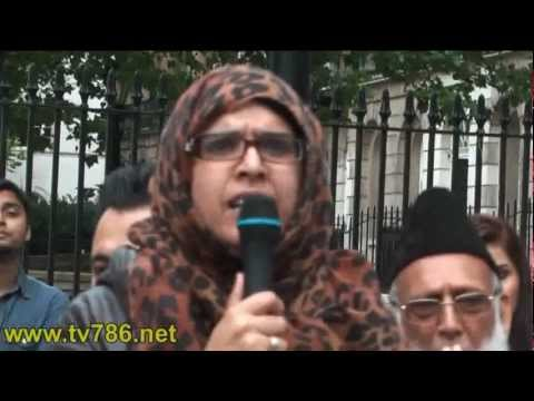 London Suhaila Protest Against Genocide Of Burmese Muslims