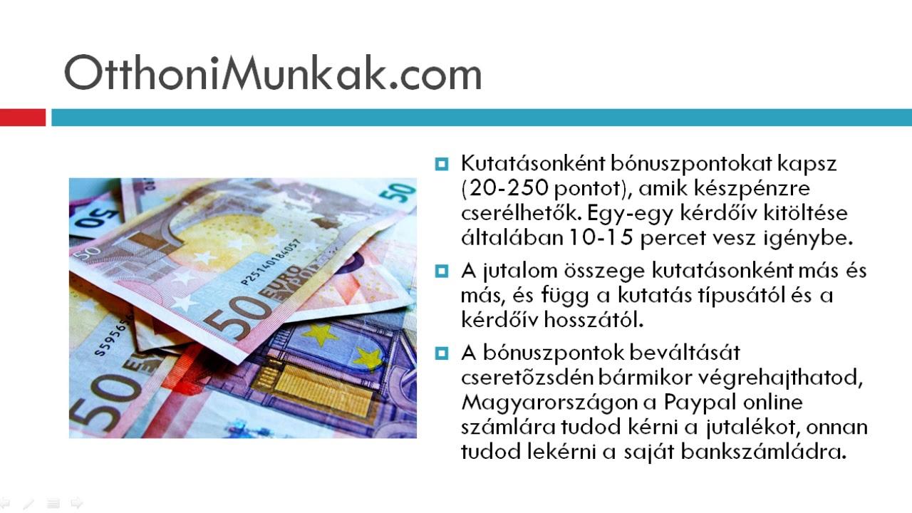 kérdőívek kitöltése pénzkereséssel az interneten