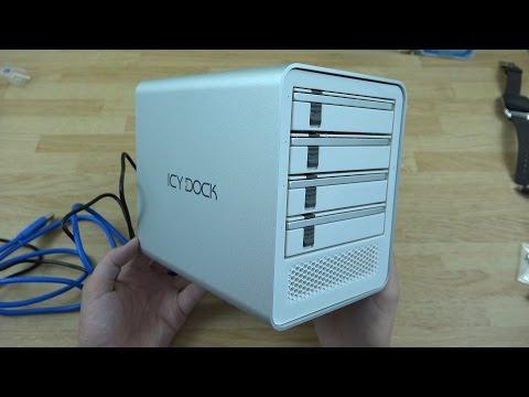 "ICY DOCK ICYCube MB561U3S-4S R1 4 Bay USB 3.0 & eSATA 2.5"" / 3.5"" SATA HDD/SSD External Enclosure"