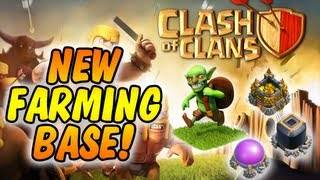 Clash Of Clans - NEW FARMING BASE DESIGN Town Hall 8 & 9!!! Works Very Well!