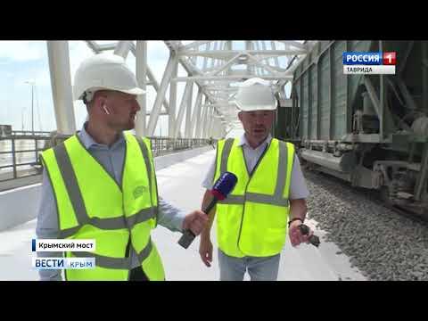Первый поезд: железная дорога Крымского моста