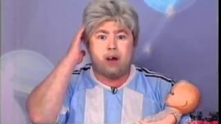 Programa Silvio Santos - Cabrito faz homenagem com cabelo branco Free HD Video