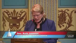 Sen. Johnson addresses the Senate on Hertel appointment