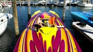 2012 Miami powerboats poker run start. 1000 hp boats
