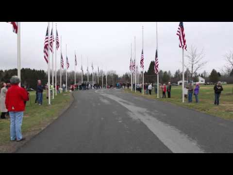 2014 Flag Raising at Northern Maine Veterans Cemetery in Caribou