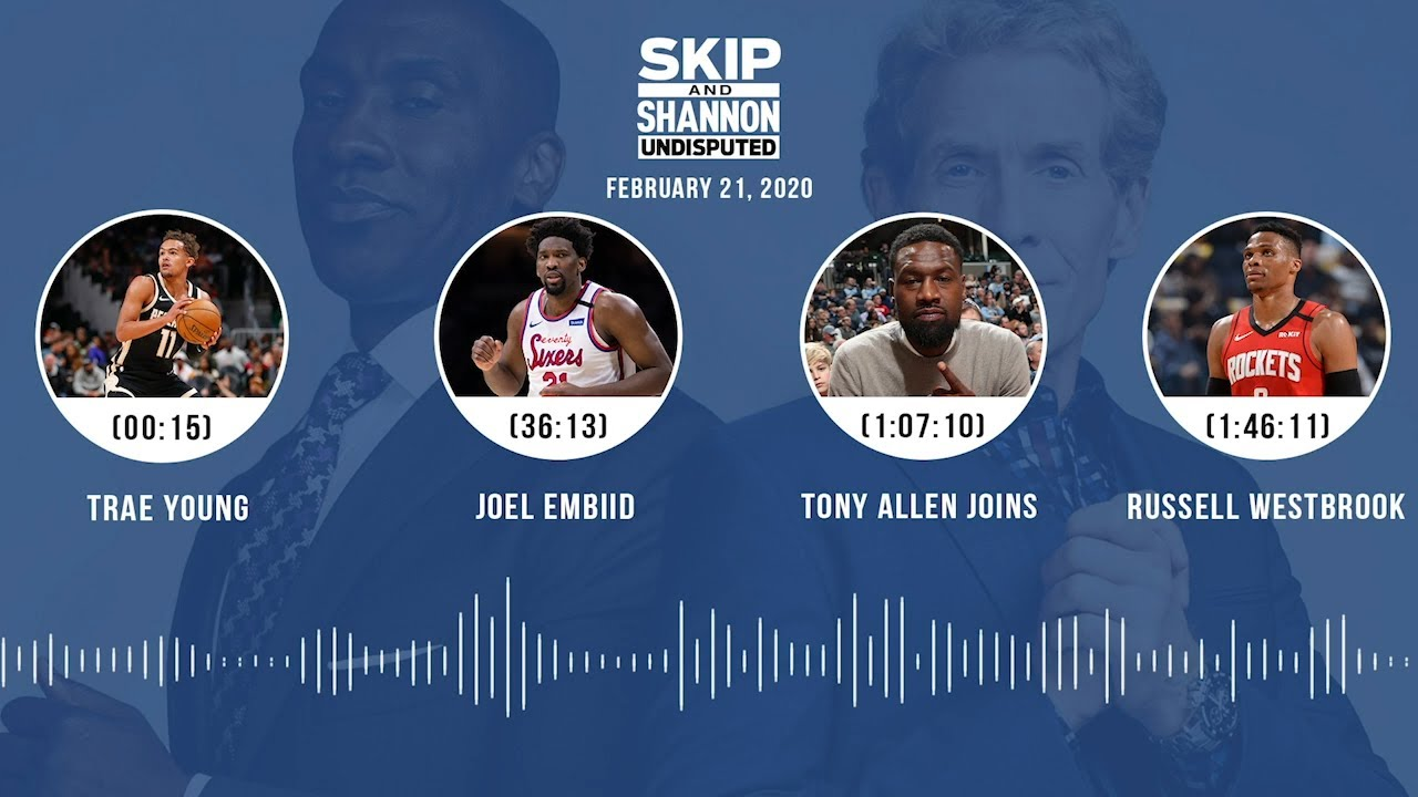 Trae Young, Joel Embiid, Tony Allen joins, Russell Westbrook (2.21.20) Audio Podcast