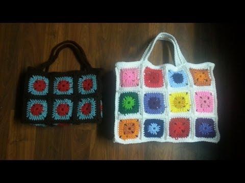 CROCHET How To #Crochet Bag - Crochet Granny Square Bag - PART 1 TUTORIAL #23 LEARN CROCHET