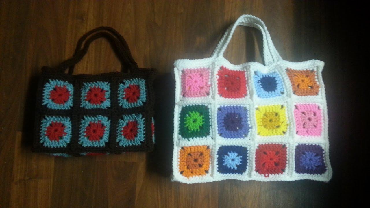 How To Make A Crochet Bag : CROCHET How To #Crochet Bag - Crochet Granny Square Bag - PART 1 ...
