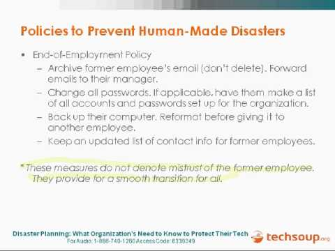 Webinar - Disaster Planning: What You Need to Protect Your Tech - 2009-08-20