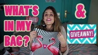 What's in my bag & 20.000 subs huge Giveaway * Evelina Nikoliza