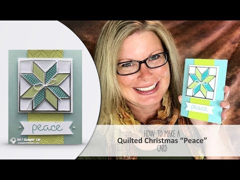 How to make a beautiful & easy Christmas Quilt Card featuring Stampin Up