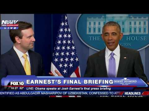 SURPRISE: President Obama Pays TRIBUTE to Josh Earnest at His FINAL White House Daily Press Briefing