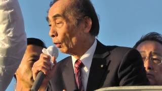 輿石東民主党幹事長街頭演説会 衆院選 2012.12.9(日)滋賀県守山市
