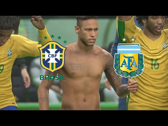 PES 17 - Brasil x Argentina - Super Cl?ssico das Am?ricas - Est?dio Maracan? - Playstation 4