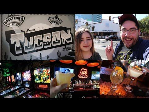 Cobra Arcade Bar Tucson PREVIEW EVENT Vlog - Drinks, Games, and Artwork