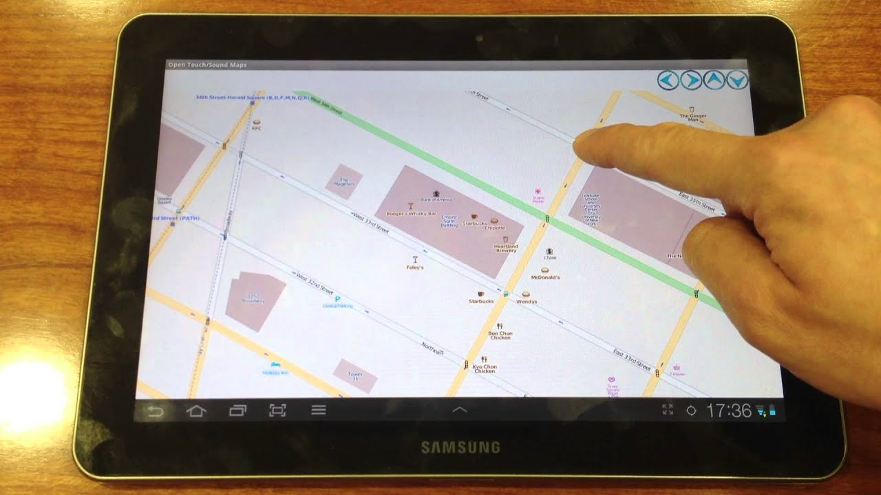 """Open Touch Sound Maps"""" mobile application Map access to the"""