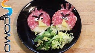 Aperitivo para niños con forma de Angry Birds