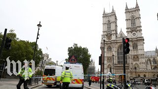 Several pedestrians injured after car crashes outside Britain's Houses of Parliament