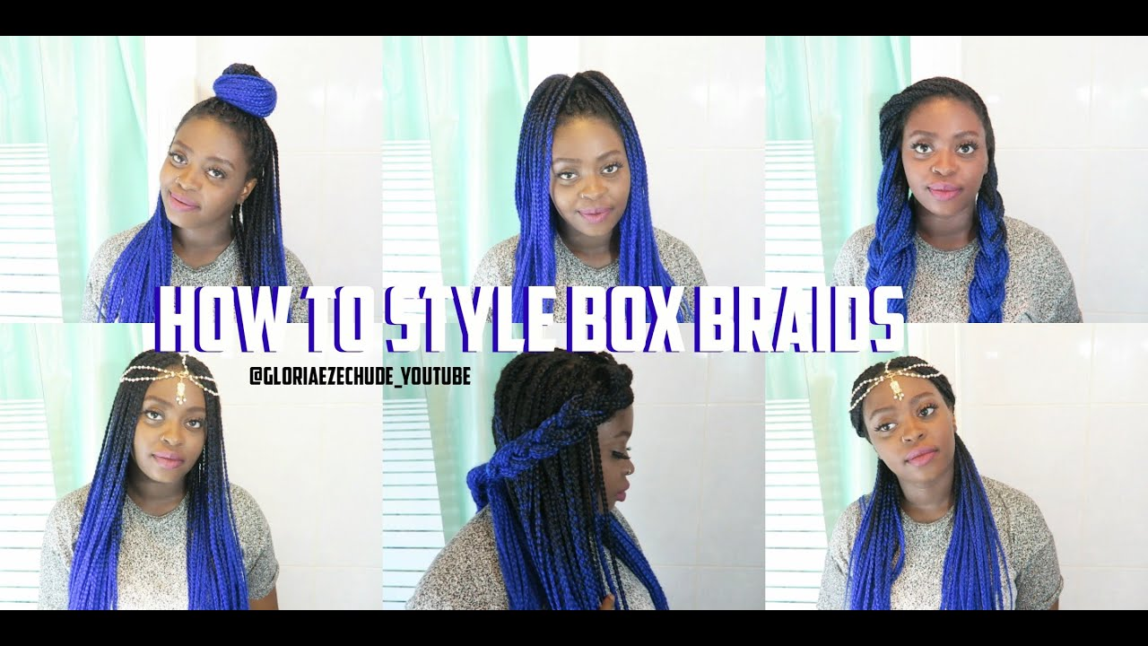 DIY HOW TO STYLE YOUR BOX BRAIDS EASY SUMMER UPDOS - Diy updos youtube