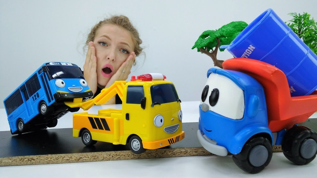 Грузовичок Лева и Автобус Тайо - Мультик с игрушками - YouTube