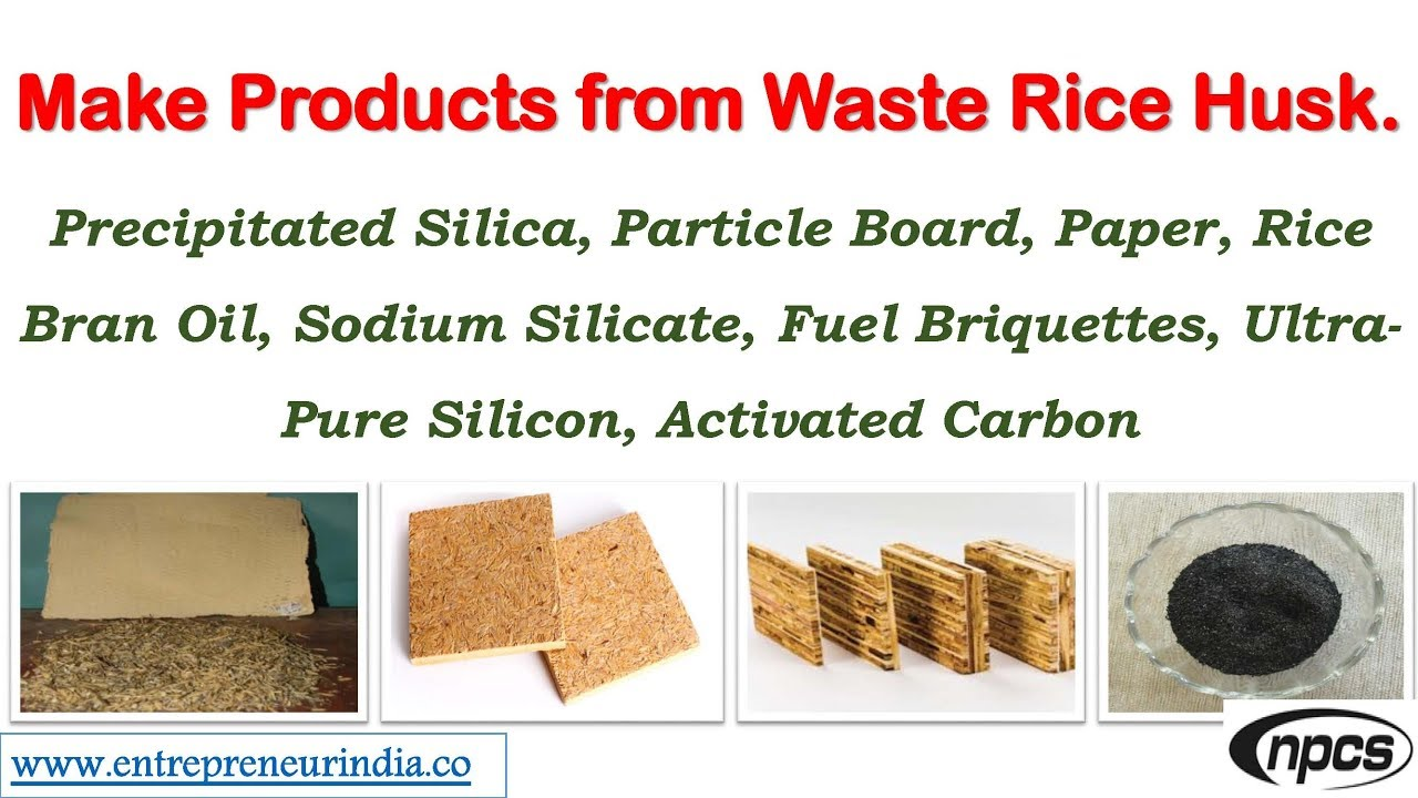 Make Products From Waste Rice Husk Precipitated Silica Particle