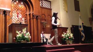 Y-Love speaks at Temple Israel of Greater Miami(Y-Love, the African American gay Jewish hip hop performer, speaks during Friday night services at Temple Israel of Greater Miami. February 15, 2013., 2013-02-16T12:42:42.000Z)