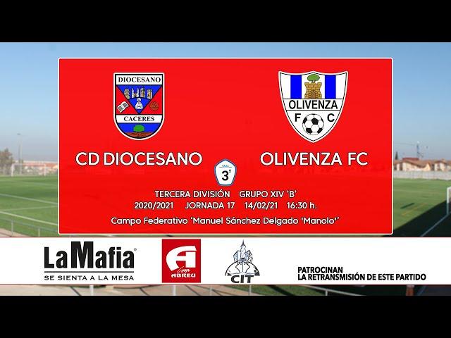 CD Diocesano - Olivenza FC (Tercera División Gr.14 'B' 20/21)