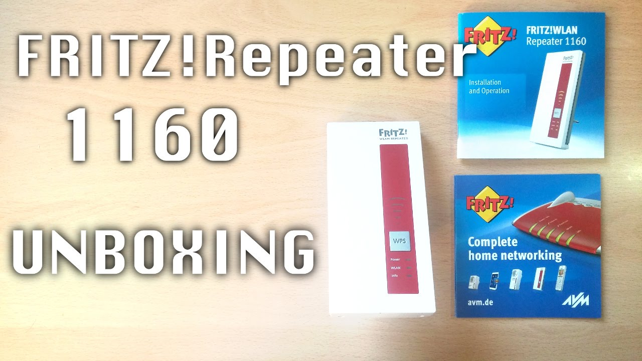 Unboxing Fritzrepeater 1160 Youtube