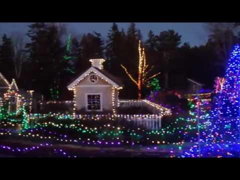 Boothbay Botanical Gardens in Lights