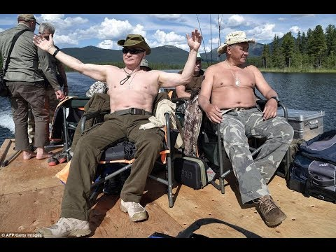 EXCLUSIVE: Real Man Putin Goes Fishing on Siberian Summer Holiday