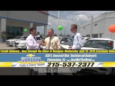 """""""You Set the Price!"""" """"Vacation On Us!"""" Gordon Chevrolet, Philadelphia PA"""