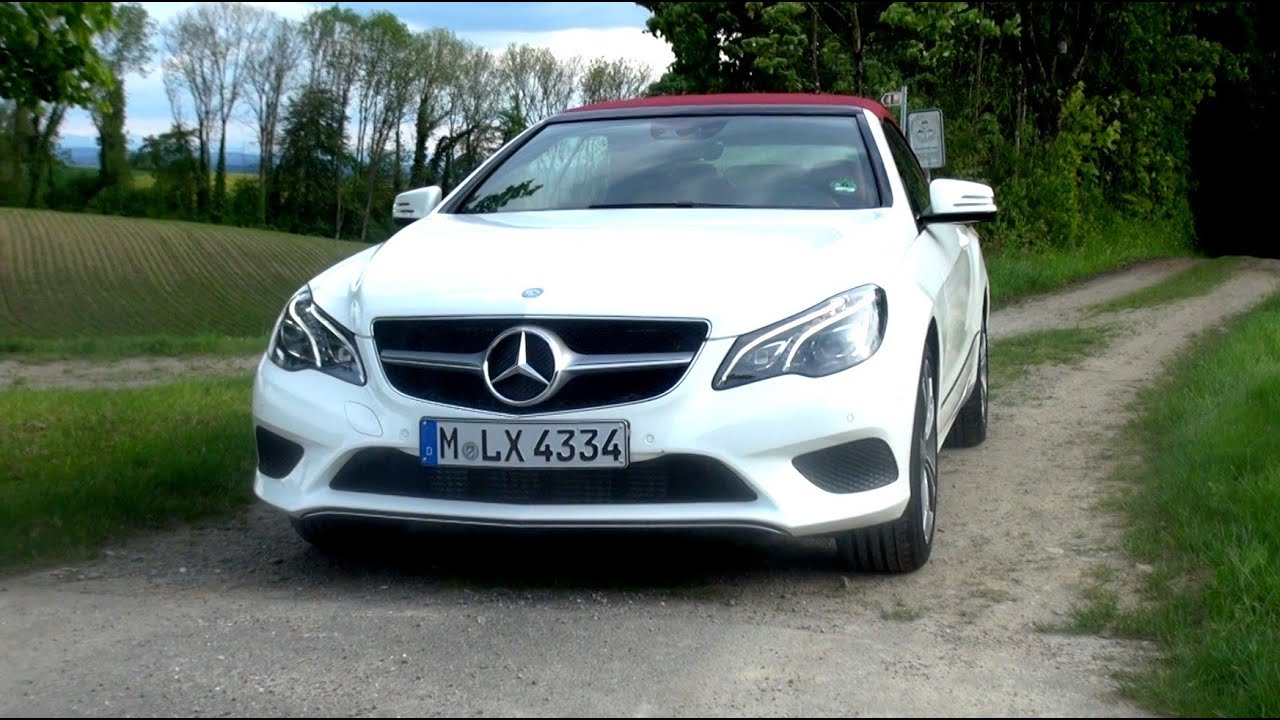 2014 mercedes e 200 cabriolet facelift with 184 hp test drive youtube. Black Bedroom Furniture Sets. Home Design Ideas