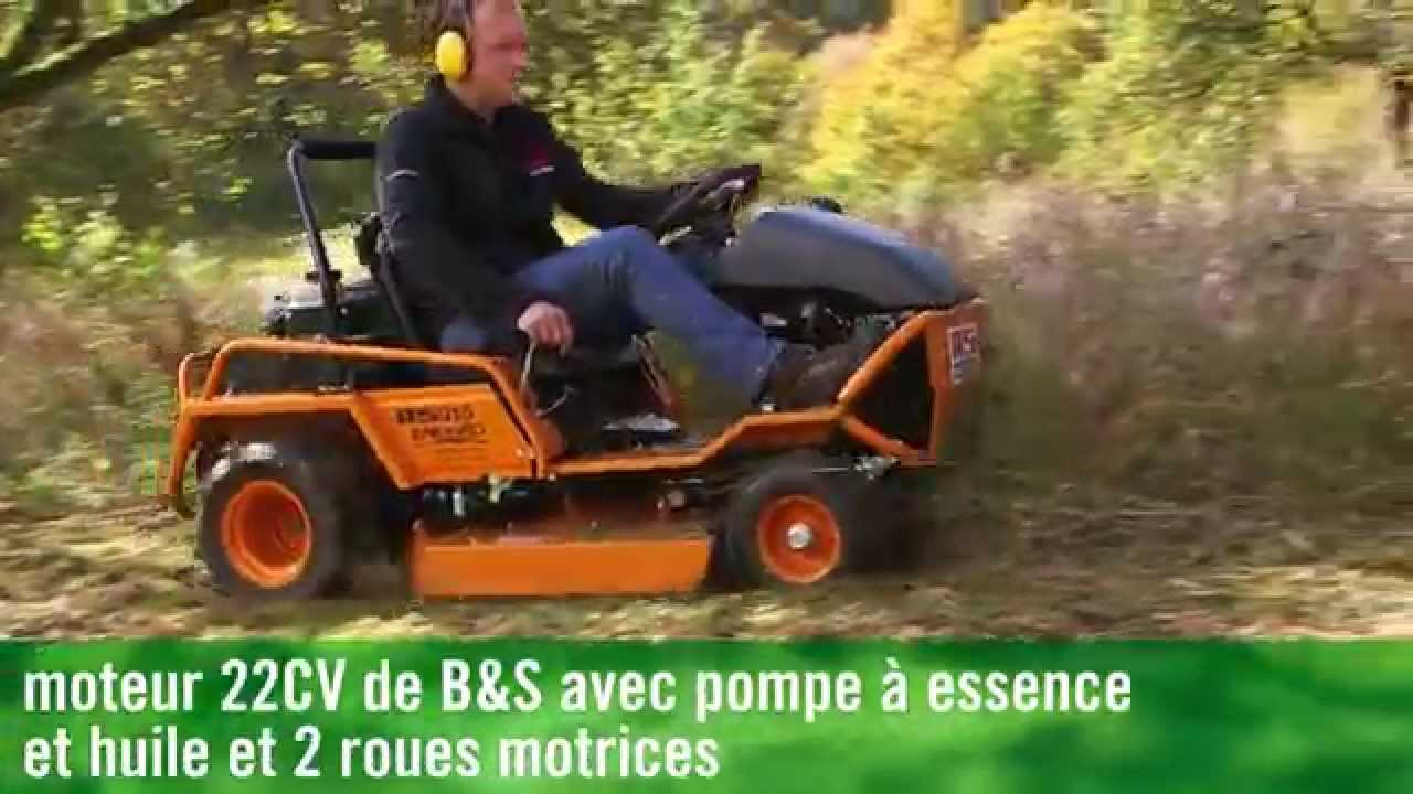as 915 d u00e9broussailleuse autoport u00e9e en action