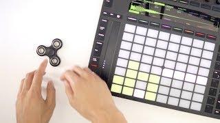 Make a beat before a fidget spinner stops spinning?!