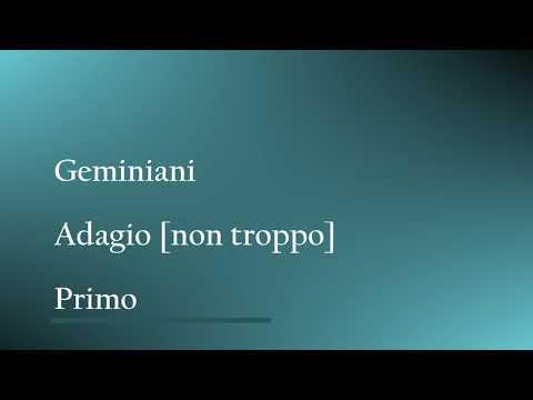 Rubank Advanced Flute Volume Two: Duet #6: Geminiani - Adagio (Primo)