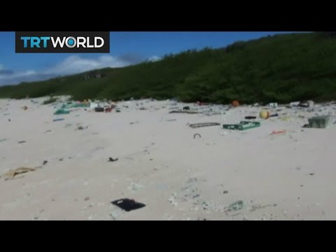 Uninhabited South Pacific island turning into garbage dump