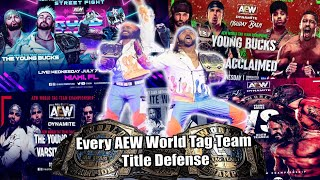 The Young Bucks || Every AEW World Tag Team Title Defense
