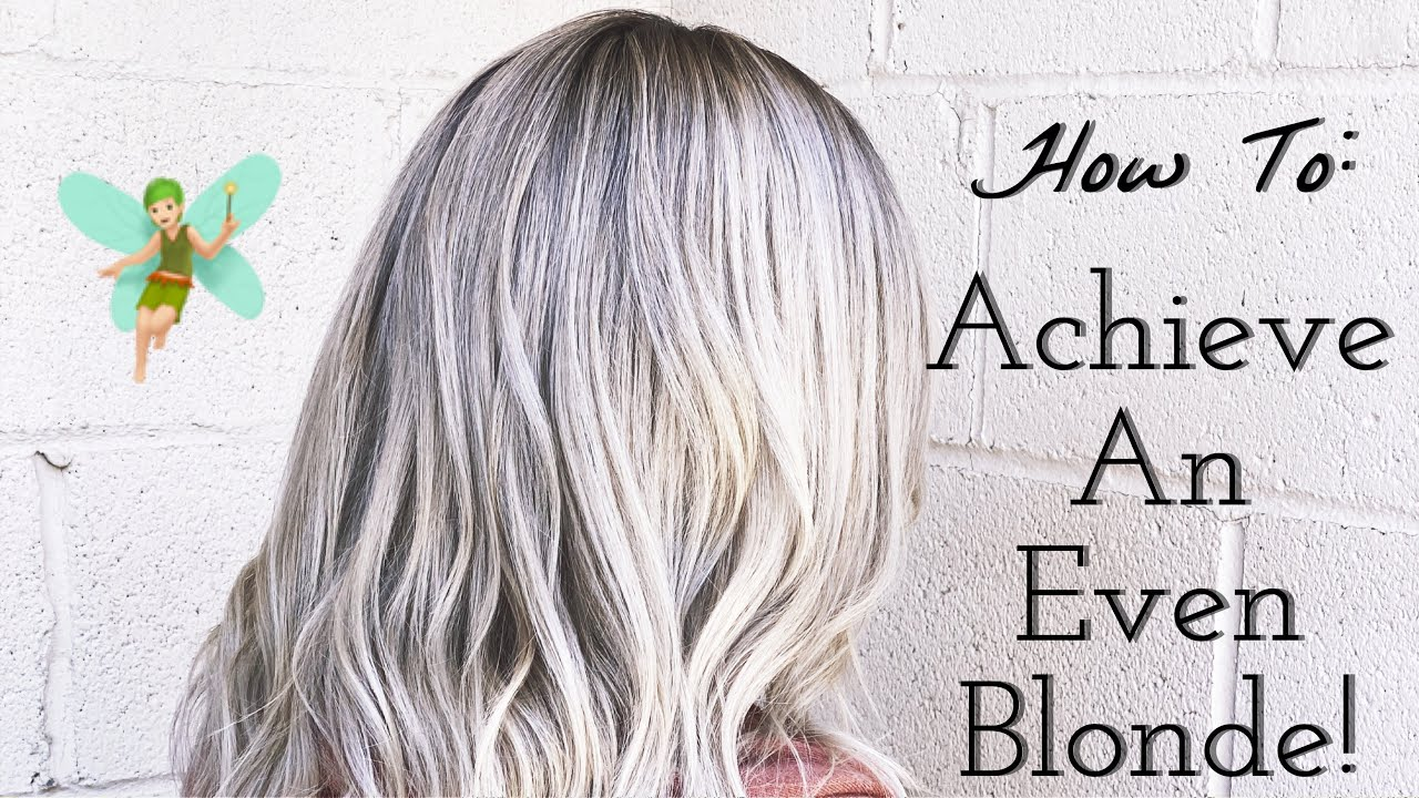 How to Even Out Blonde Hair!!